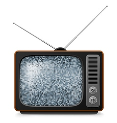 Broken Retro TV vector image