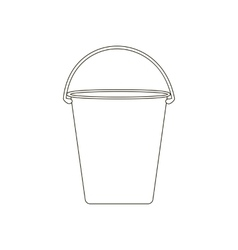 Bucket path vector image