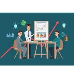 Business professional work team meeting vector