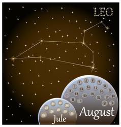 Calendar of the zodiac sign Leo vector image