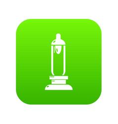 Car candle icon green vector