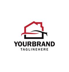 Car garage workshop home or house garage vector