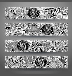 cartoon hand drawn doodles oktoberfest vector image
