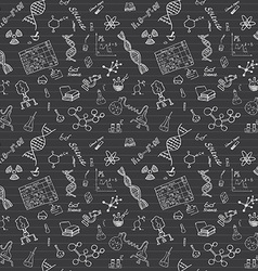 Chemistry and sciense seamless pattern with sketch vector image