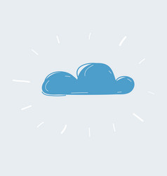 cloud icon on white vector image