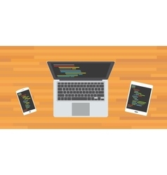 code program programming multi platform vector image