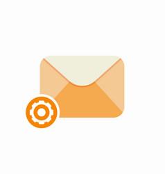 Cog email letter mail message send setup icon vector