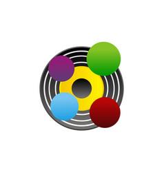 color lab logo design template vector image