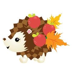 Cute Autumn Hedgehog2 vector