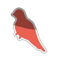 Cute bird silhouette vector image