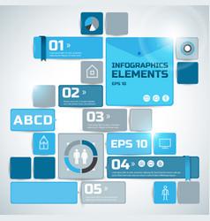 digital business infographics vector image