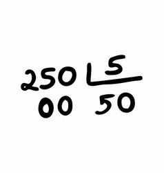 Division calculation freehand vector
