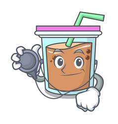doctor bubble tea character cartoon vector image