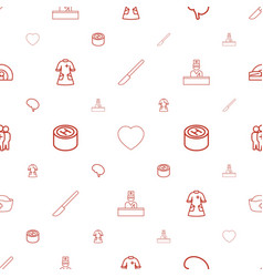 doctor icons pattern seamless white background vector image