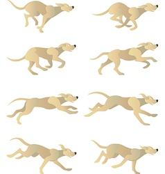 Dogrun cycle vector image