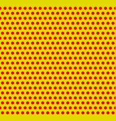 Dotted pop-art polka dot background yellow red vector