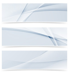 Fashion wave swoosh banner collection design set vector