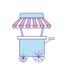 Fast food car with delicious meal vector