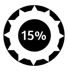 Fifteen percent download internet icon vector