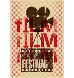 Film festival retro typographical poster vector