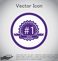 First place ribbon rosette icon victory icon vector