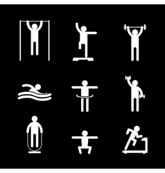 Fitness people icons vector image