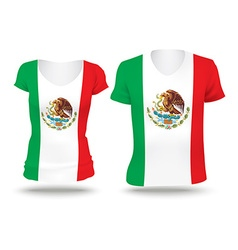 Flag shirt design of Mexico vector image