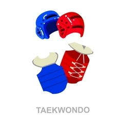 for martial art poster Taekwondo vector image
