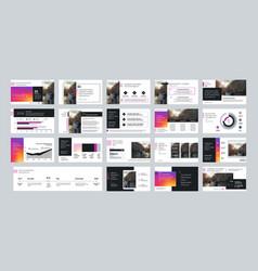 Geometric presentation element templates vector