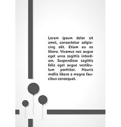 Gray balloons dark infographics vector
