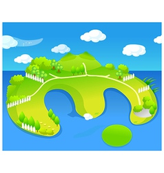 Green island vector image
