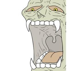 halloween creature vector image