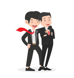 happy business man friendly conceptai vector image