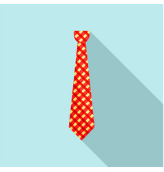 hipster tie icon flat style vector image