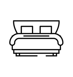 hotel bed line icon concept sign outline vector image