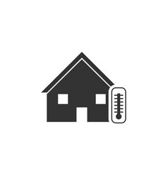 house temperature icon flat vector image