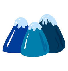 Ice mountains on white background vector