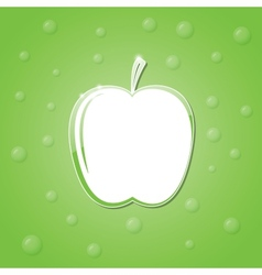 icon of an apple vector image
