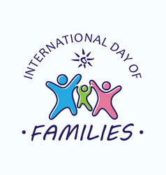 international day families vector image