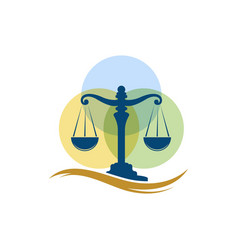 Justice law firm icon template vector