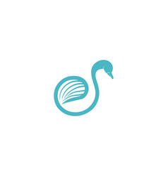 Letter s swan logo designs inspiration isolated vector
