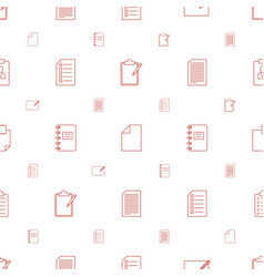 list icons pattern seamless white background vector image