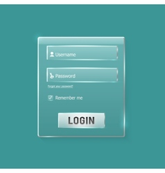 Login and register web glossy form vector