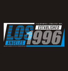 Los angeles 1996 typography design vector
