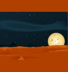 lunar desert landscape vector image