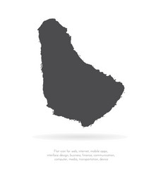 map barbados isolated black vector image