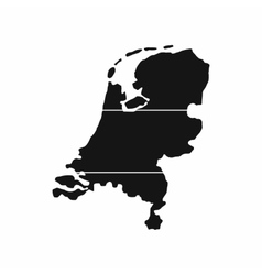 map netherlands icon simple style vector image