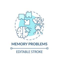 Memory problems concept icon vector