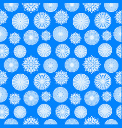 paper snowflakes on blue background christmas vector image