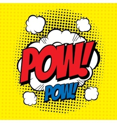Pow comic vector image